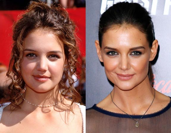 Katie Holmes Nose Job Before and After